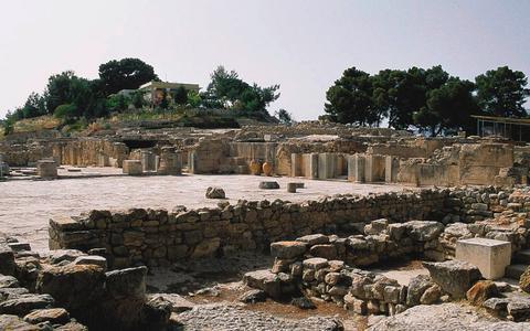 Ο αρχαιολογικός χώρος της Φαιστού.