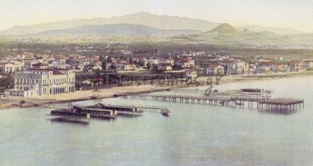 Άποψη του Φαλήρου με τα θαλάσσια λουτρά, αρχές 20ού αιώνα.