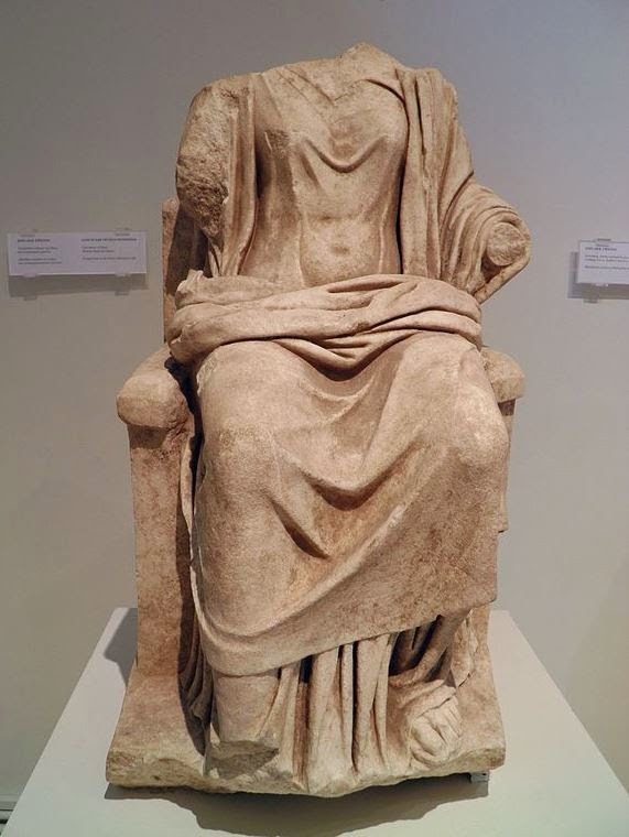 Το άγαλμα της Ήρας εκτίθεται στο αρχαιολογικό μουσείο του Δίου.