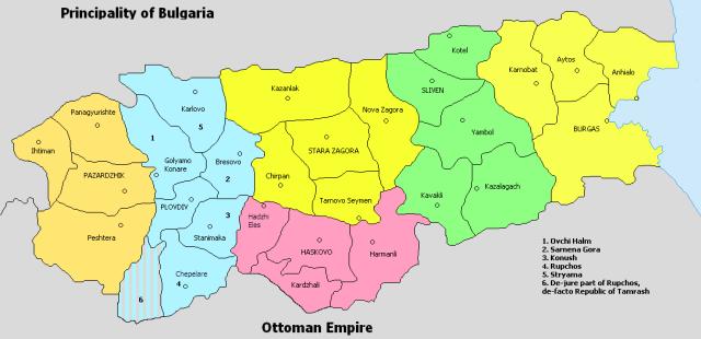 Η τοπαρχία θα είχε πρωτεύουσα την Φιλιππούπολη και θα διαιρούνταν σε 6 νομούς και 26 επαρχίες.