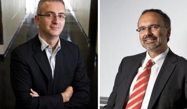 Άρθουρ Χριστόπουλος (αριστερά) και Χρήστος Παντελής (δεξιά).