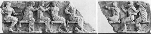 Οι Ολύμπιοι θεοί, αριστερό τμήμα ανατολικής ζωφόρου