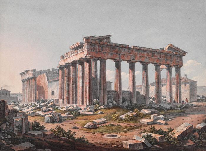 Παρθενώνας, 1805 Edward Dodwell; watercolor. The Packard Humanities Institute