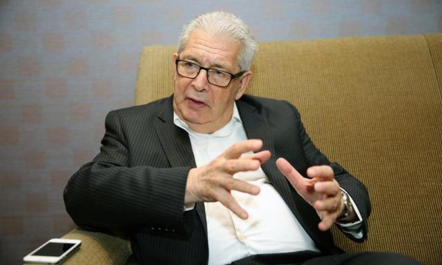 Alexis Galanos, Exilbürgermeister von der Zypriotischen Stadt Famagusta. Okkupiert von der Türkei seit 1974.